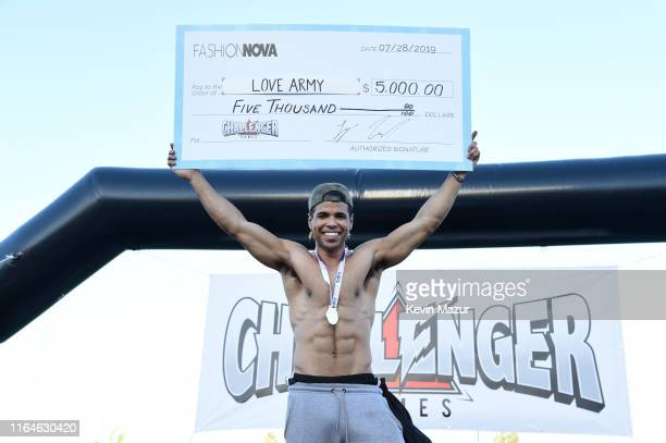 Austin McBroom attends The Challenger Games Inaugural Celebrity Charity Track Field Competition at Veterans Memorial Stadium on July 27 2019 in Long...