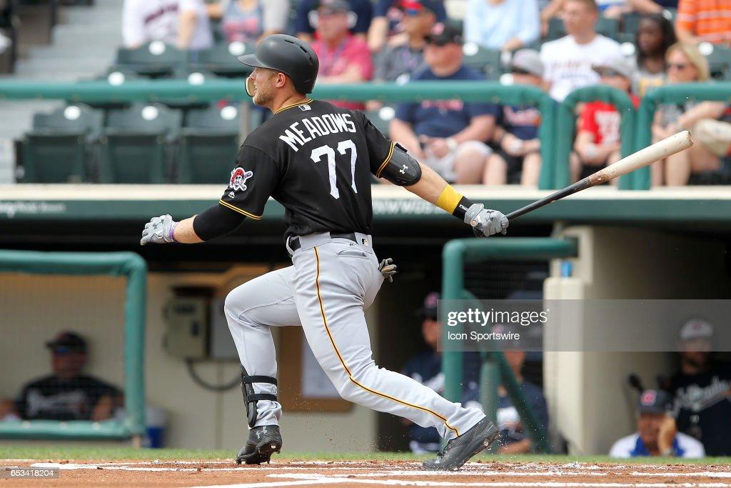 MLB: MAR 13 Spring Training - Pirates at Braves : News Photo