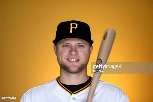 Austin Meadows of the Pittsburgh Pirates poses for a photo during photo days at LECOM Park on February 21 2018 in Bradenton Florida