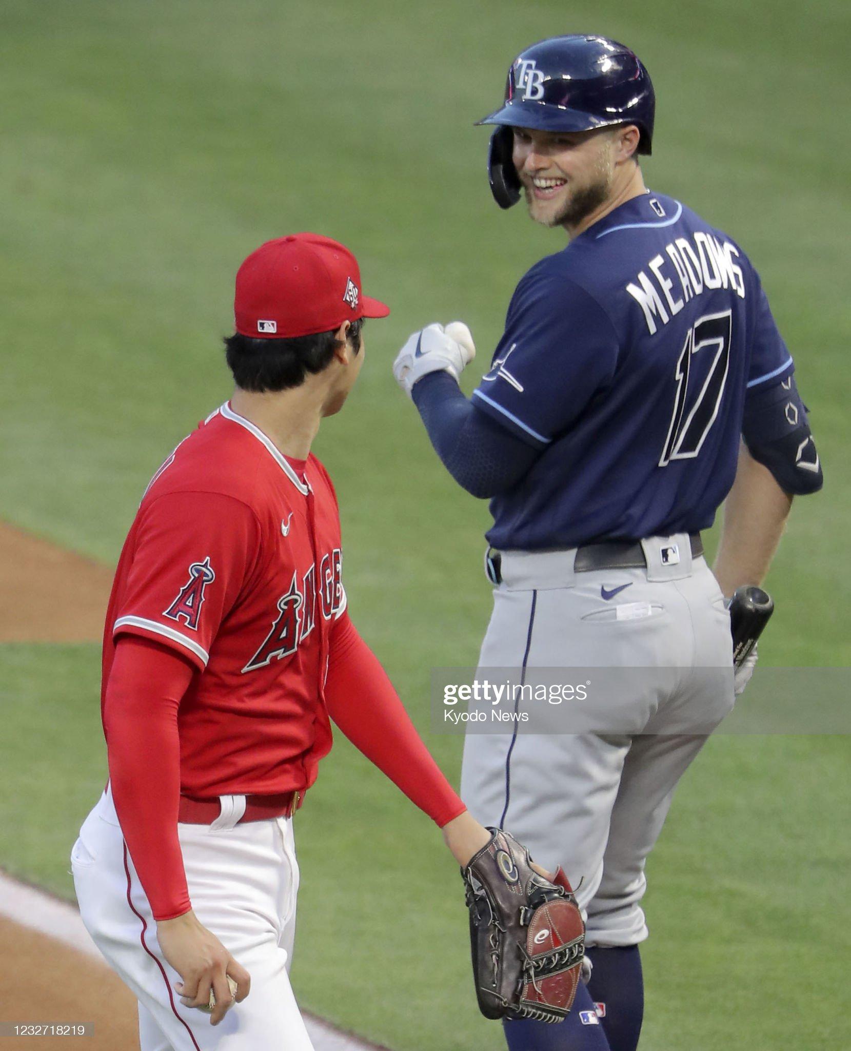 Baseball: Rays vs. Angels : ニュース写真