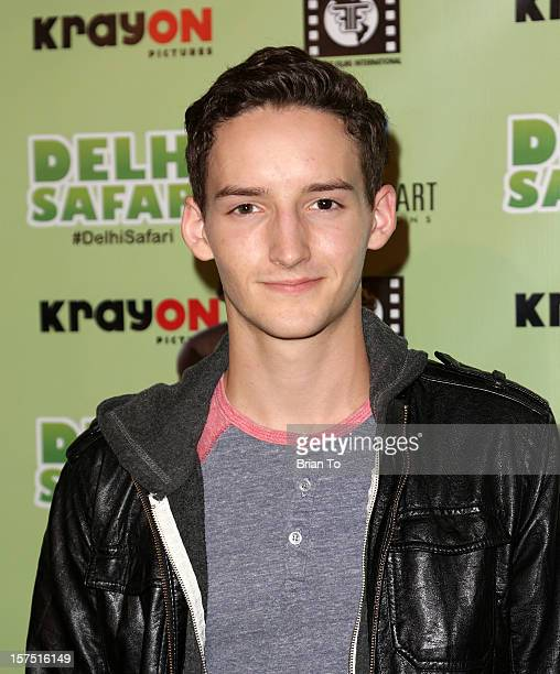 Austin Mincks attends 'Delhi Safari' Los Angeles premiere at Pacific Theatre at The Grove on December 3 2012 in Los Angeles California