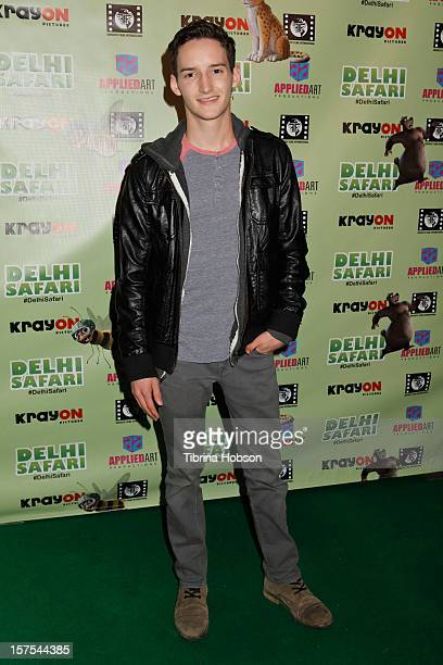 Austin Mincks attends the Delhi Safari Los Angeles premiere at Pacific Theatre at The Grove on December 3 2012 in Los Angeles California