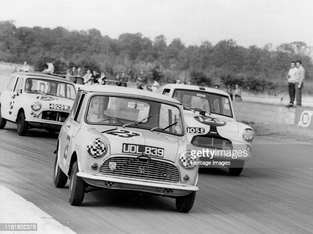 Austin Mini driven by J Gibson at Silverstone Creator Unknown