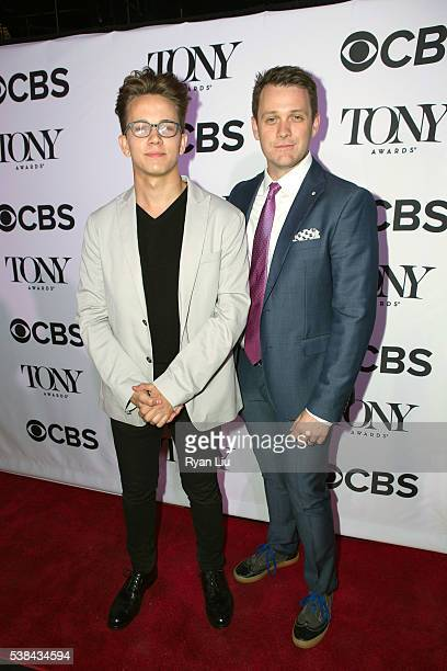 Austin P McKenzie and Michael Arden attend the 2016 Tony Honors cocktail party at The Diamond Horseshoe on June 6 2016 in New York City