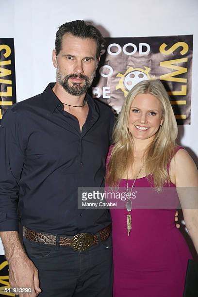 "Austin Peck and Terri Conn attend ""The Eyes"" New York premiere at Regal E-Walk Stadium 13 on June 20, 2016 in New York City."