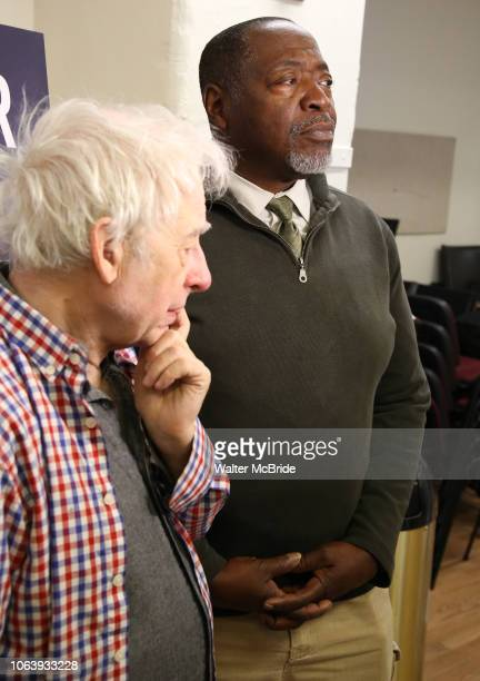 Austin Pendleton and Chuck Cooper during the MTC Broadway Cast Call for 'Choir Boy' at The MTC Rehearsal Studios on November 20 2018 in New York City