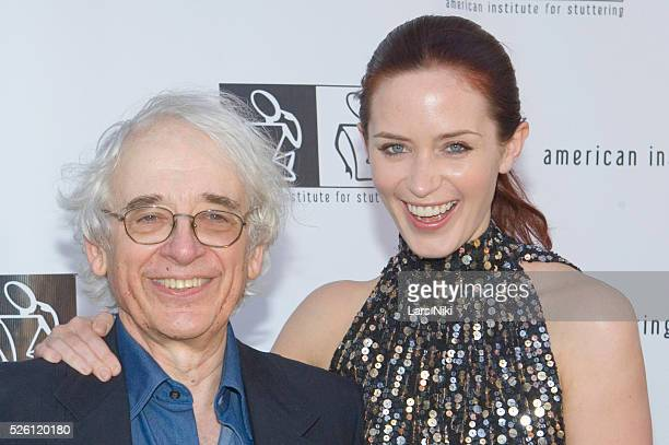 Austin Pendleton and Emily Blunt attend the '3rd Annual American Institute For Stuttering Benefit Gala' at the Tribeca Rooftop in New York City