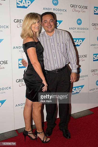 Austin Police Chief Art Acevedo and his wife Tanya Acevedo arrive at the 7th Annual Andy Roddick Foundation Gala at W Hotel Austin on September 21,...
