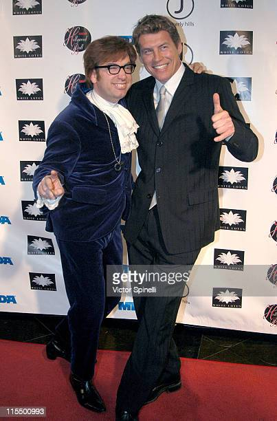 Austin Powers and Chris Breed during Muscular Dystrophy Association Honors Chris Breed at White Lotus in Hollywood California United States