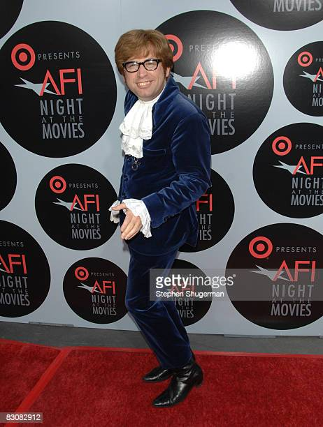 Austin Powers impersonator Richard Halpern arrives at AFI's Night At The Movies presented by Target held at ArcLight Cinemas on October 1 2008 in...