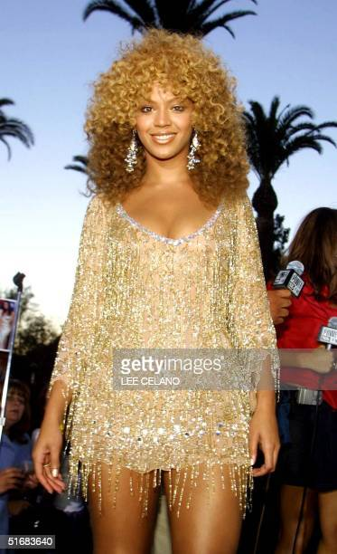 Austin Powers in Goldmember star Byonce Knowles arrives for the film's premiere in the Universal City area of Los Angeles 22 July 2002 The film...