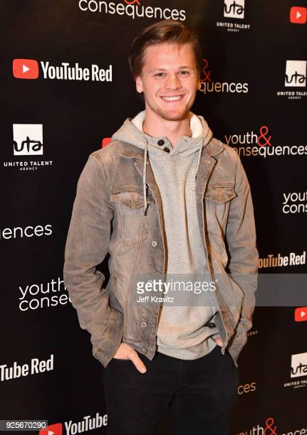 Austin R Grant attends the YouTube Red Originals Series 'Youth Consequences' screening on February 28 2018 in Los Angeles California