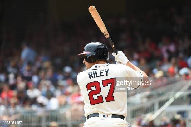 Austin Riley of the Atlanta Braves bats against the Detroit Tigers at SunTrust Park on June 02 2019 in Atlanta Georgia