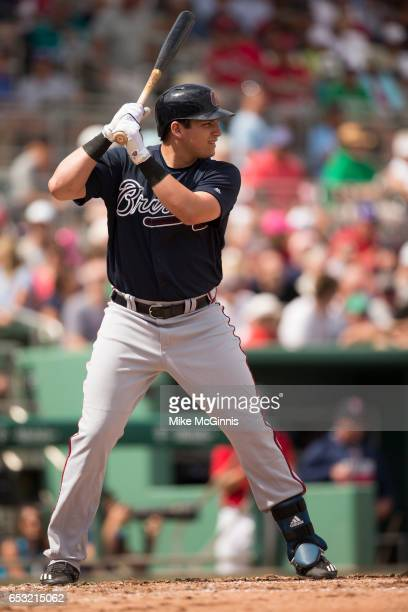 Austin Riley of the Atlanta Braves in action during the game against the Boston Red Sox at Jet Blue Park on March 05 2017 in Fort Myers Florida