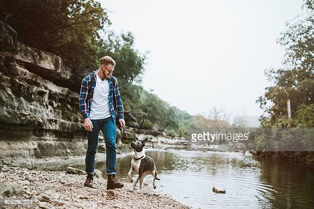 austin river adventure with dog - texas stock pictures, royalty-free photos & images