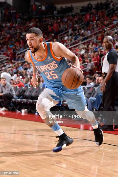 Austin Rivers of the LA Clippers handles the ball against the Houston Rockets on March 15 2018 at the Toyota Center in Houston Texas NOTE TO USER...