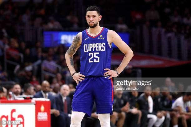 Austin Rivers of the Los Angeles Clippers during the game against the Denver Nuggets at Staples Center on April 7 2018 in Los Angeles California NOTE...