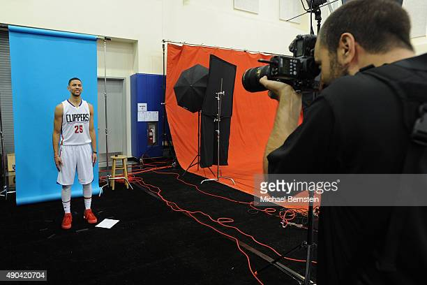 Austin Rivers of the Los Angeles Clippers poses for a portrait during media day at the Los Angeles Clippers Training Center on September 25 2015 in...