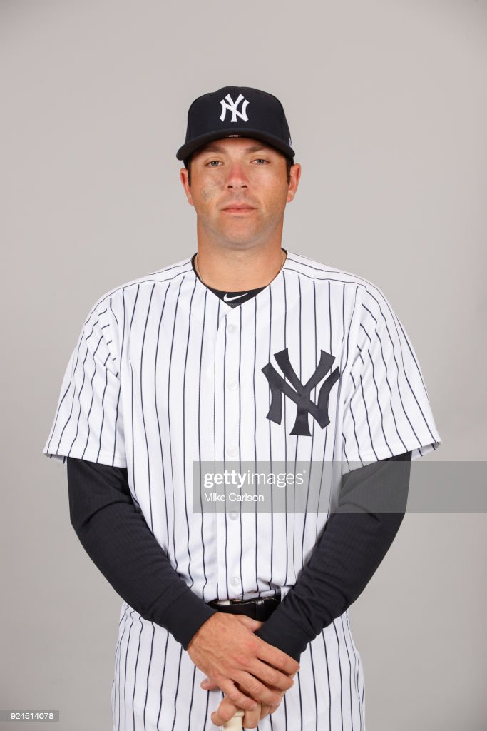 Austin Romine #28 of the New York Yankees poses during Photo Day on Wednesday, February 21, 2018 at George M. Steinbrenner Field in Tampa, Florida.