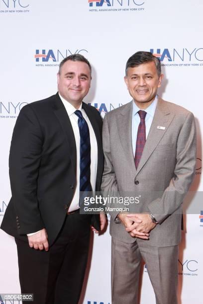 Austin Shafran and Vijay Dandapani during the Hotel Association of New York City hosts 'The Red Carpet Hospitality Gala' HANYC's Annual Dinner/Dance...