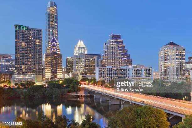 austin skyline - texas - austin texas stock pictures, royalty-free photos & images