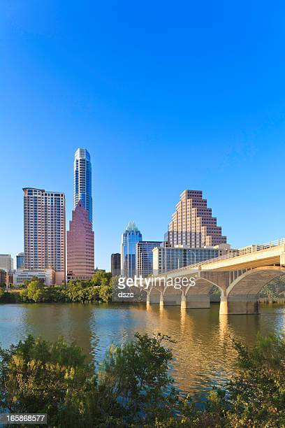 Austin Skyline com o Congresso Avenue Bridge