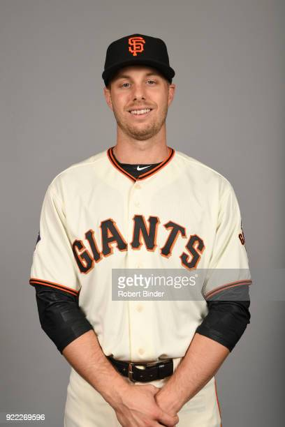 Austin Slater of the San Francisco Giants poses during Photo Day on Tuesday February 20 2018 at Scottsdale Stadium in Scottsdale Arizona