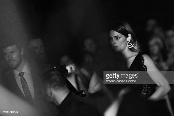 Austin Stowell and Ashley Greene attend the premiere of 'In Dubious Battle' during the 73rd Venice Film Festival at Sala Giardino on September 3 2016...