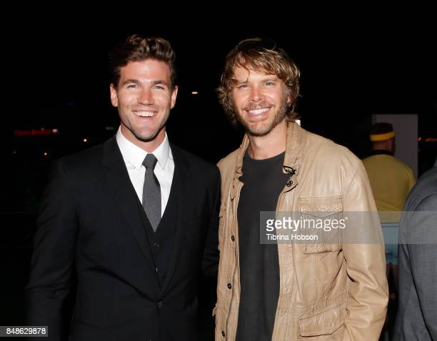 Austin Stowell and Eric Christian Olsen attend the premiere of Fox Searchlight Pictures 'Battle Of The Sexes' after party at Regency Village Theatre...