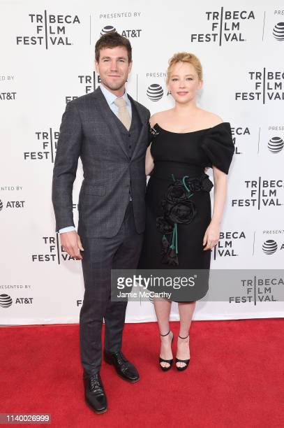 Austin Stowell and Haley Bennett attend the Swallow screening during the 2019 Tribeca Film Festival at SVA Theater on April 28 2019 in New York City
