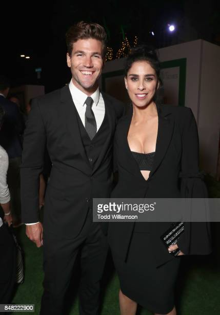 Austin Stowell and Sarah Silverman at Fox Searchlight's Battle of the Sexes Los Angeles Premiere on September 16 2017 in Westwood California