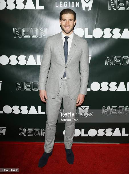Austin Stowell arrives at the Los Angeles premiere of Neon's Colossal held at the Vista Theatre on April 4 2017 in Los Angeles California