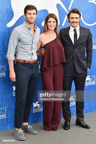 Austin Stowell Ashley Greene and james Franco attend the photocall of 'In Dubious Battle' during the 73rd Venice Film Festival at Sala Darsena on...