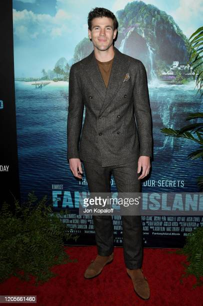 Austin Stowell attends the premiere of Columbia Pictures' Blumhouse's Fantasy Island at AMC Century City 15 on February 11 2020 in Century City...