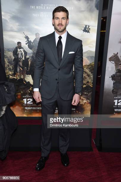 Austin Stowell attends the world premiere of '12 Strong' at Jazz at Lincoln Center on January 16 2018 in New York City