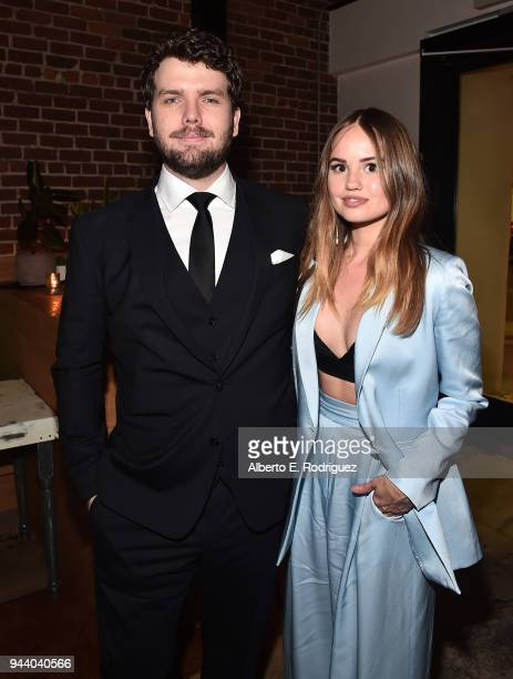 Austin Swift and Debby Ryan attend the after party for the premiere of Sony Pictures Home Entertainment and Off The Dock's Cover Versions at Fellow...