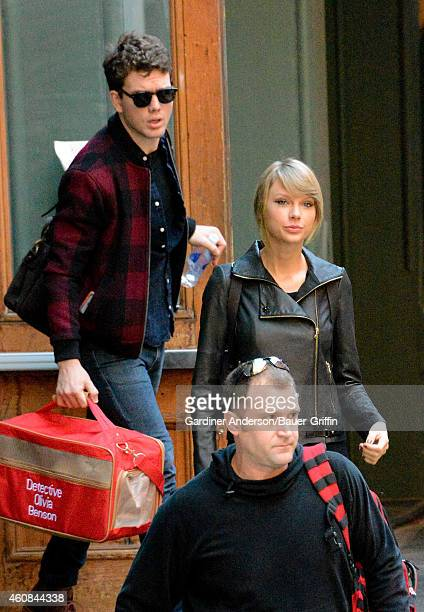 Austin Swift and Taylor Swift are seen in New York City on December 26 2014 in New York City
