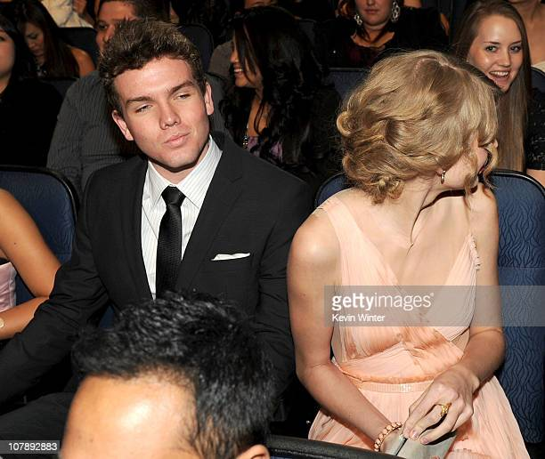 Austin Swift and Taylor Swift attend the 2011 People's Choice Awards at Nokia Theatre LA Live on January 5 2011 in Los Angeles California
