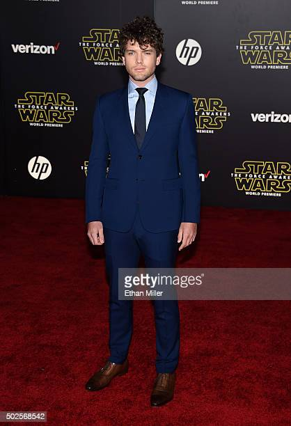 Austin Swift attends the premiere of Walt Disney Pictures and Lucasfilm's 'Star Wars The Force Awakens' at the Dolby Theatre on December 14 2015 in...