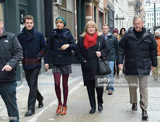 Austin Swift Taylor Swift Andrea Finlay and Scott Swift are seen on December 22 2014 in New York City