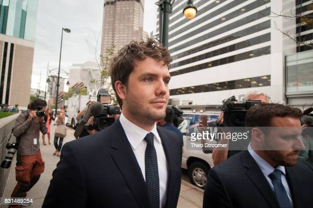 Austin Swift Taylor Swift's brother leaves the courthouse following the verdict of the civil case of Taylor Swift vs David Mueller at the Alfred A...