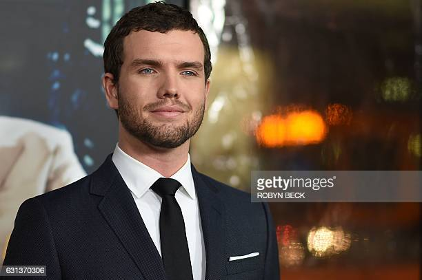 Austin Swift the younger brother of recording artist Taylor Swift arrives for the world premiere of Warner Bros Live By Night January 9 2017 at the...