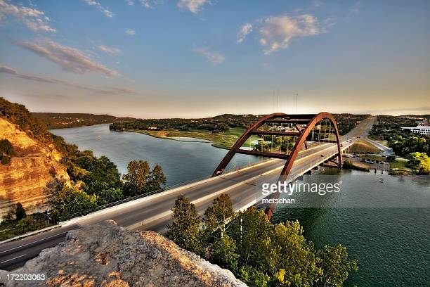 austin, texas 360 bridge - austin texas stock pictures, royalty-free photos & images