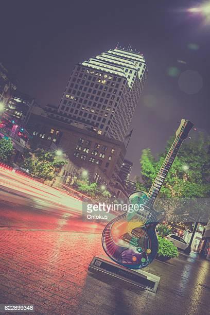 Austin Texas Congress Avenue Panoramic View at Night