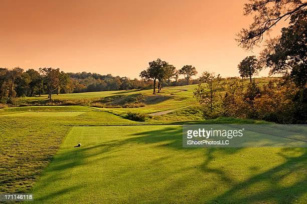 オースティンテキサスのゴルフコースの景観 - ティーグラウンド ストックフォトと画像