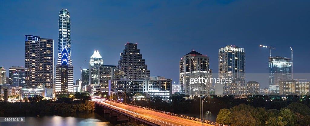 Austin Texas skyline panorama : Stock Photo