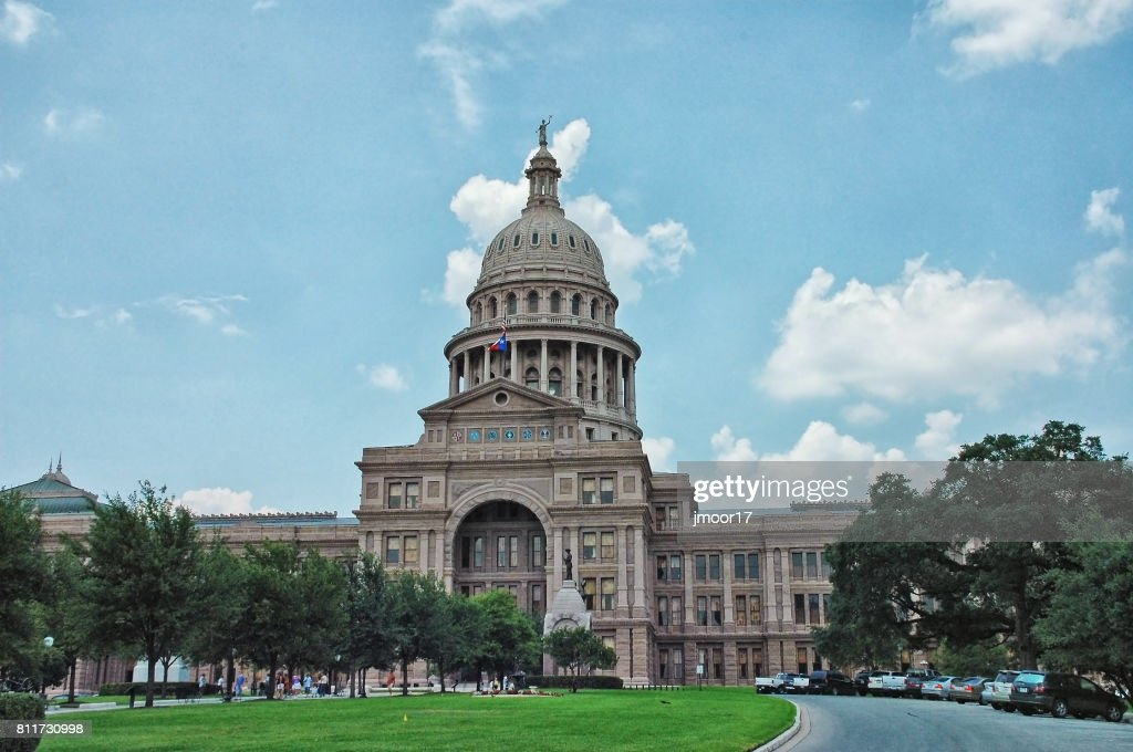 Austin Texas State Capitol with Visitors : Stock Photo