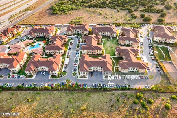 Austin Texas suburban townhouse apartment complex