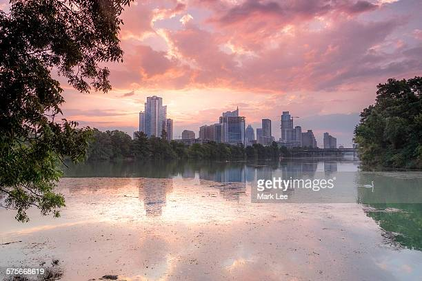 austin texas sunrise - austin texas stock pictures, royalty-free photos & images