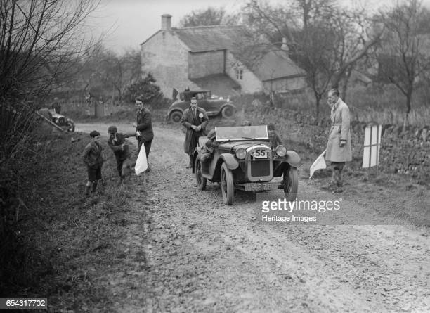 Austin Ulster of WGE Rushworth competing in the NWLMC LondonGloucester Trial 1931 Artist Bill Brunell Austin Ulster 1930 747 cc Vehicle Reg No GH8786...